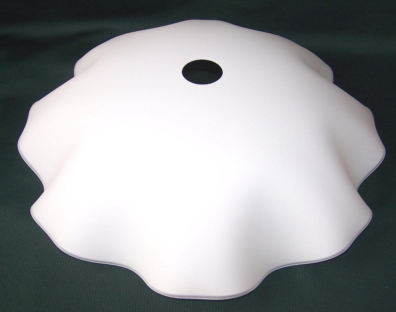 lampenschirm aus glas f r e 27 durchmesser 40 cm smerlato wellenrand. Black Bedroom Furniture Sets. Home Design Ideas