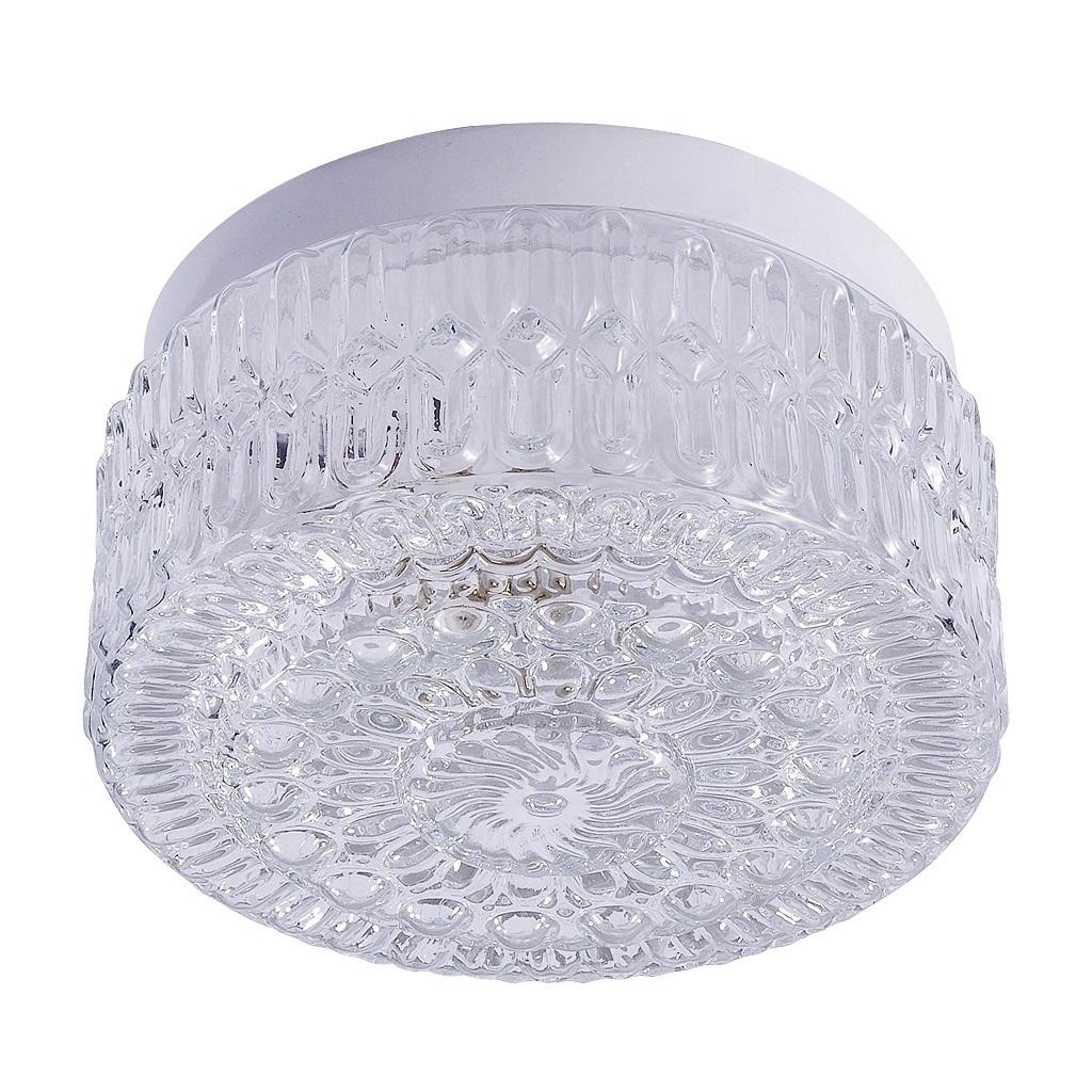 lampenschirm rund aus glas mit halterand 18 cm grace. Black Bedroom Furniture Sets. Home Design Ideas