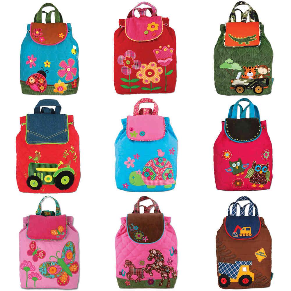 Release-Info zu schöner Stil Neues Produkt Stephen Jospeh gesteppter Rucksack mit Applikationen für Kinder