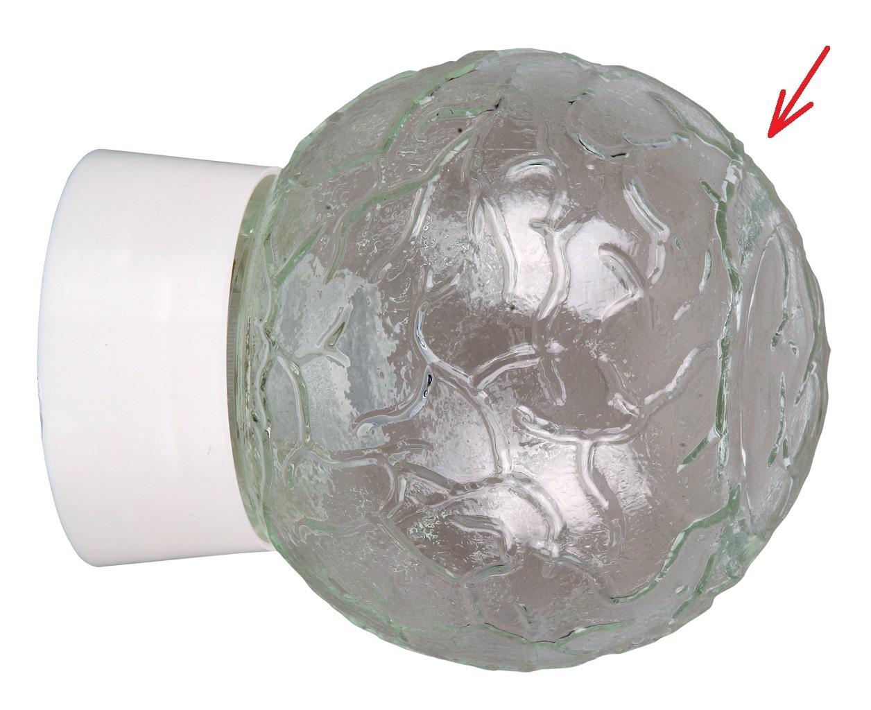 Lampenschirm kugel aus glas für e durchmesser cm grace