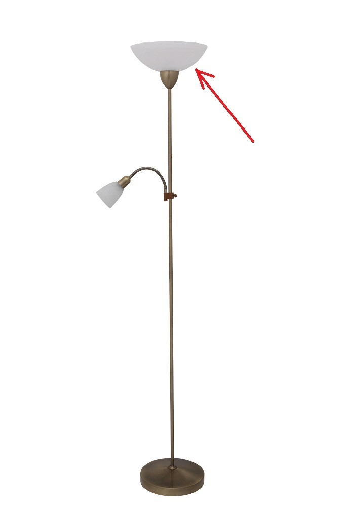 Lampenschirm Aus Glas Für Stehlampen Mit E 27 Pearl Classic Weiss