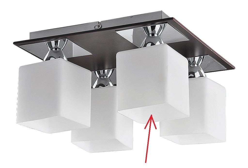 lampenschirm aus glas eckig f r e 27 durchmesser 10 cm reda. Black Bedroom Furniture Sets. Home Design Ideas