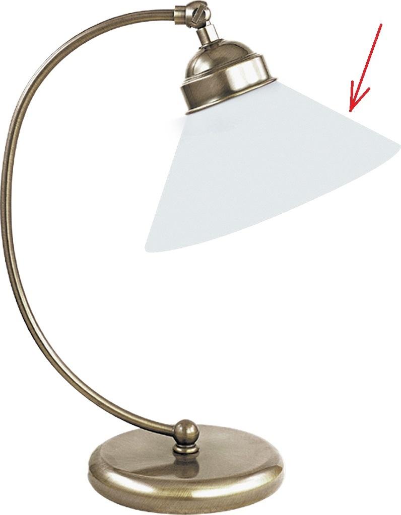 lampenschirm kegelf rmig aus glas f r e 27 ca 21 5 cm marian. Black Bedroom Furniture Sets. Home Design Ideas
