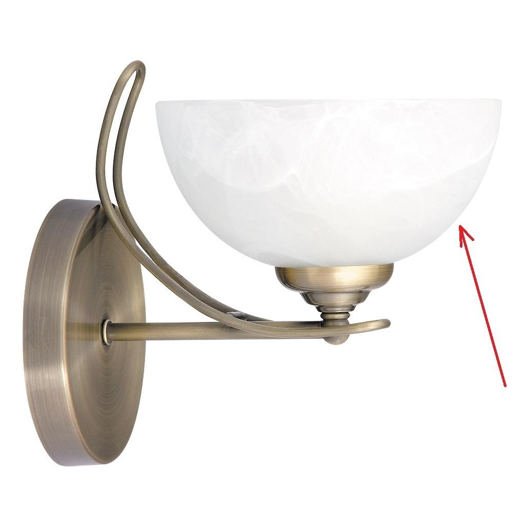 lampenschirm aus glas f r e 14 durchmesser 18 cm pearl classic. Black Bedroom Furniture Sets. Home Design Ideas