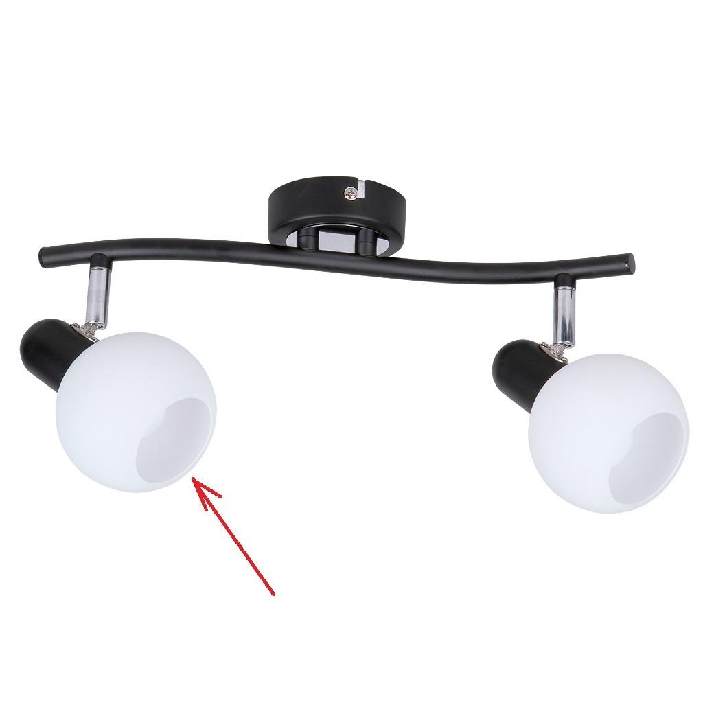lampenschirm aus glas f r e 14 durchmesser 9 cm aurel weiss. Black Bedroom Furniture Sets. Home Design Ideas